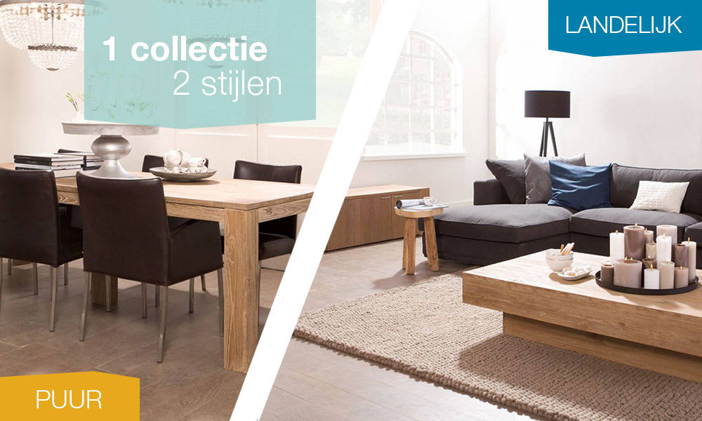 1 collectie, 2 stijlen: Forest old grey