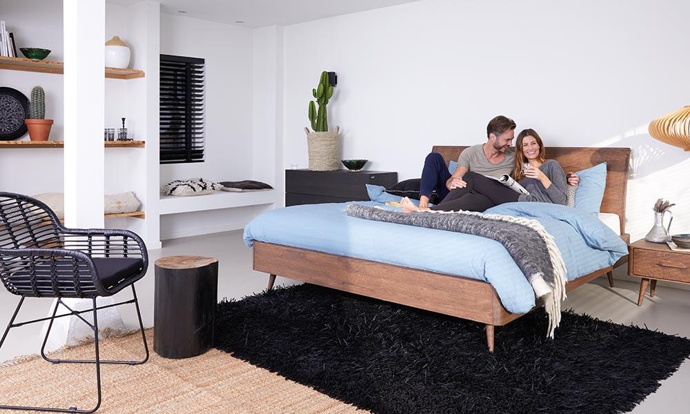 Slaapkamer Blauwe Muur : Lekker loungen in je slaapkamer welkom bij goossens wonen en slapen