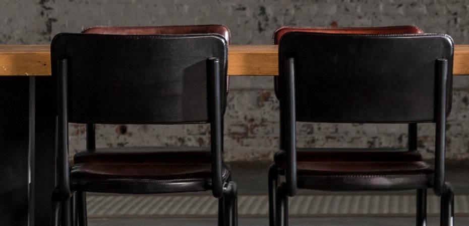 Bruin Lederen Eetkamer Stoelen.Eetkamerstoelen Modern Design Kunstleer Bruin 6 St Goedkoop Lederen