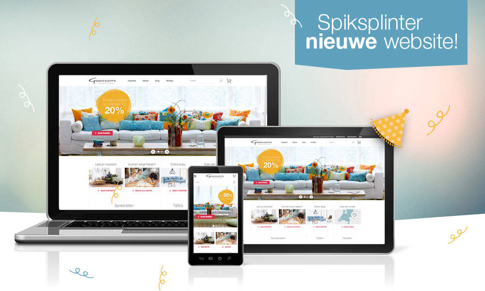 Onze spiksplinternieuwe website