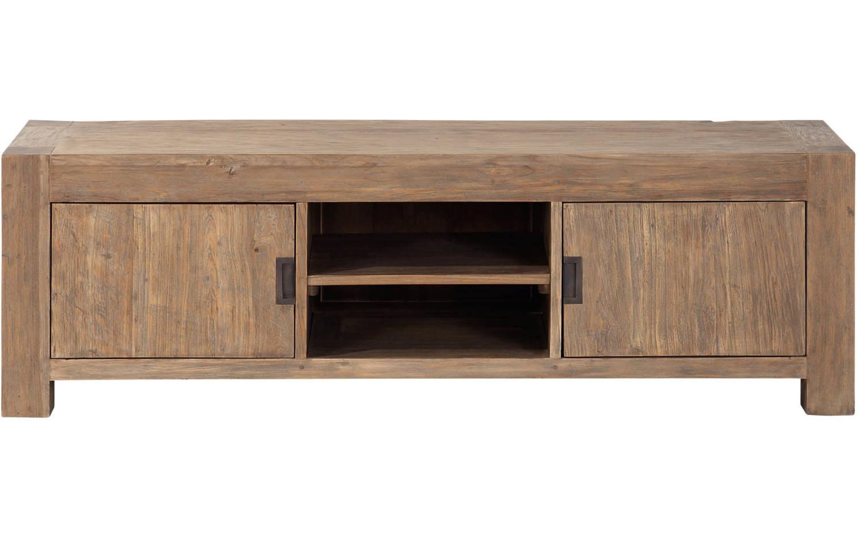 Tv meubel hampton onbewerkt teak kopen goossens for Meubels teak
