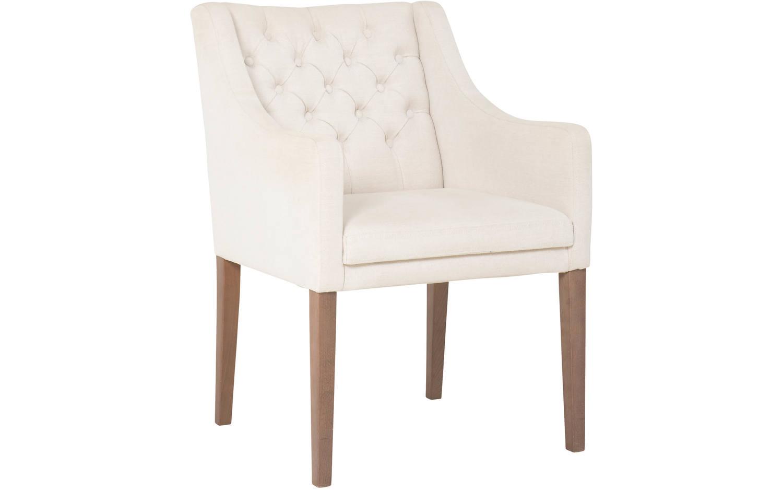 Witte Eetkamer Stoel : Eetkamerstoel pearl wit stof kopen goossens meubelwinkel