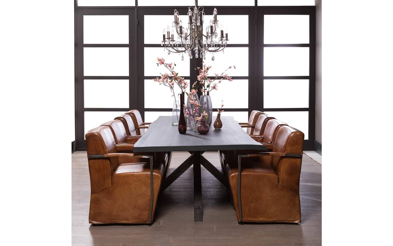 Eettafel bole zwart eiken kopen goossens meubelwinkel for Goossens meubelen