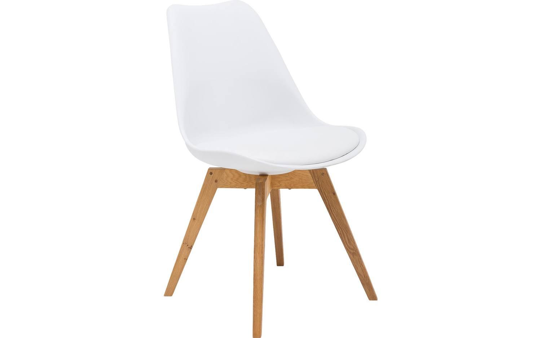 Witte Eetkamer Stoel : Eetkamerstoel spin wit kunststof kopen goossens meubelwinkel