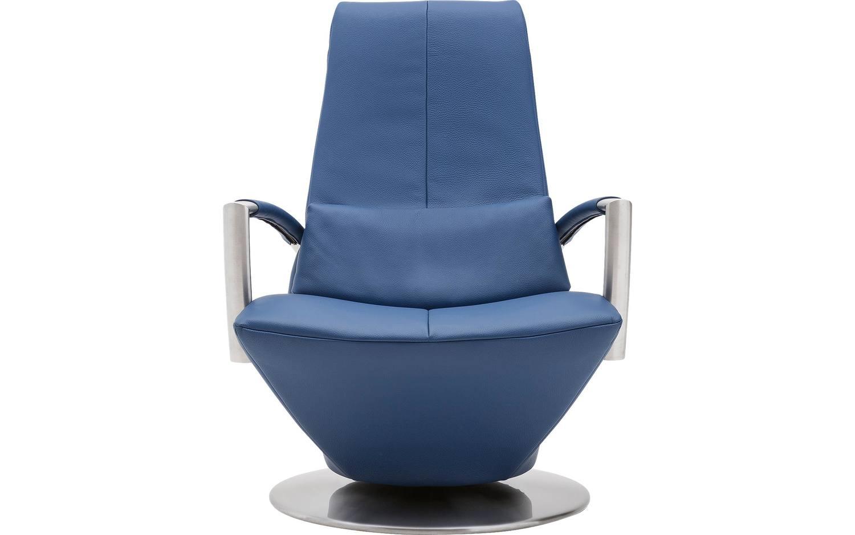 Draaifauteuil dotan blauw leer kopen goossens meubelwinkel for Eetkamerstoelen blauw leer