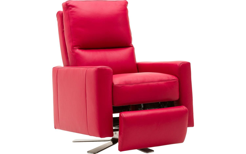 fauteuil concept pluss rood leer kopen goossens meubelwinkel. Black Bedroom Furniture Sets. Home Design Ideas
