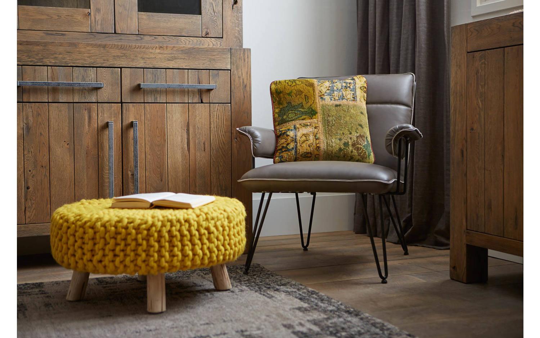 Fauteuil citta grijs kunstleer kopen goossens meubelwinkel for Citta design outlet