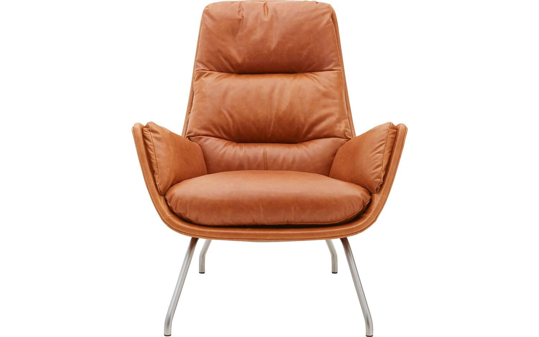 fauteuil merci bruin leer kopen goossens meubelwinkel. Black Bedroom Furniture Sets. Home Design Ideas
