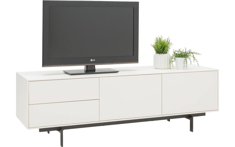 Tv meubel verona wit mdf kopen goossens meubelwinkel for Showroommodellen design meubels