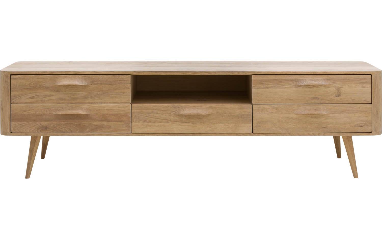 Tv meubel bjarte wit eiken kopen goossens meubelwinkel for Goossens meubelen