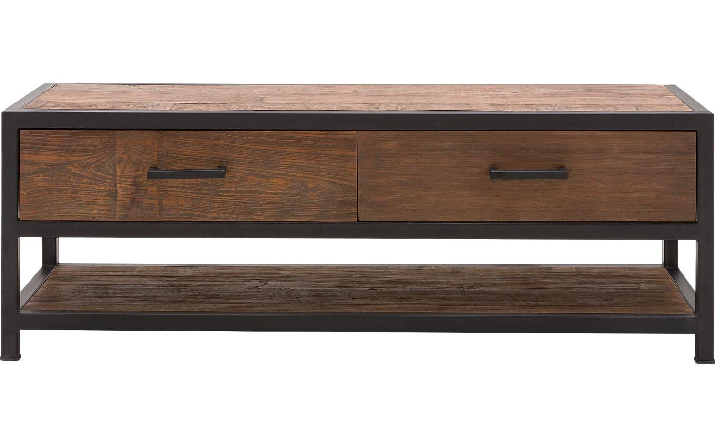 Metalen Tv Kast : ≥ zwart metalen tv meubel lage kast met lades kasten tv
