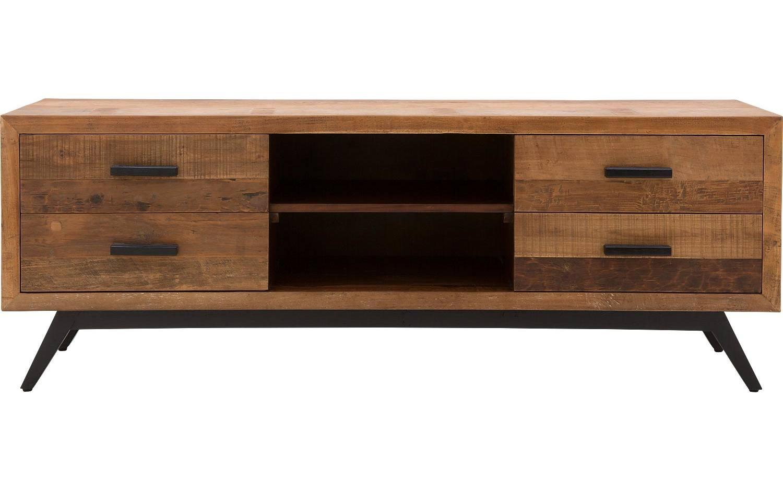 Tv meubel havana donker bruin teak kopen goossens for Meubels teak