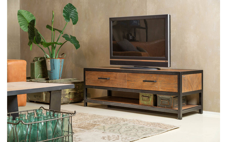Tv meubel heritage donker bruin teak kopen goossens for Goossens meubelen