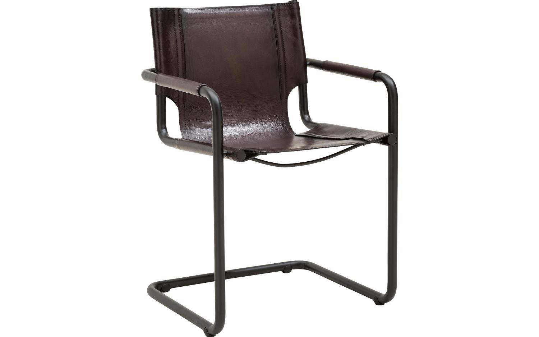 Eetkamerstoel grijs leer : Eetkamerstoel oxton grijs leer kopen goossens meubelwinkel