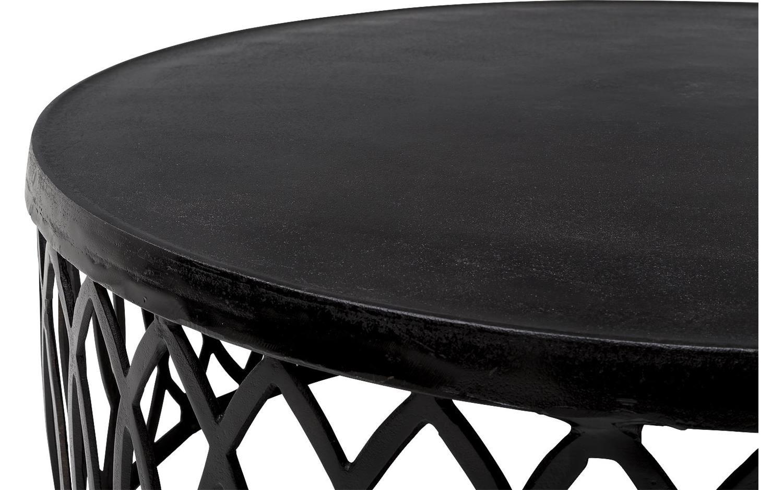 Salontafel hanne zwart metaal kopen goossens meubelwinkel