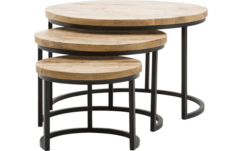Salontafel jelle bruin mango kopen goossens meubelwinkel for Salon tafel rond