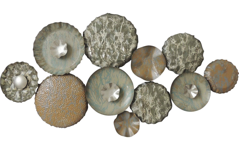 schilderij metalen wanddecoratie groen metaal kopen