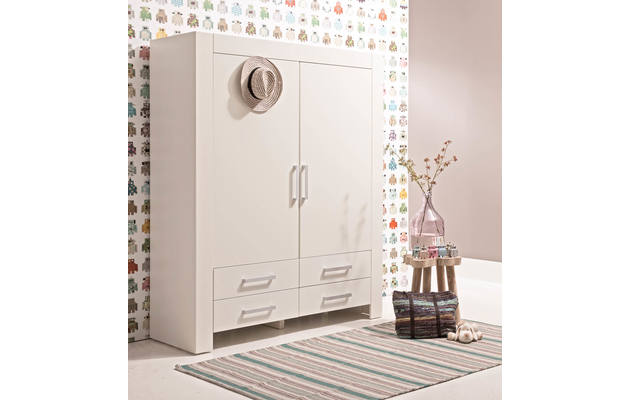 Kledingkast brooklyn wit mdf - 8122610-01