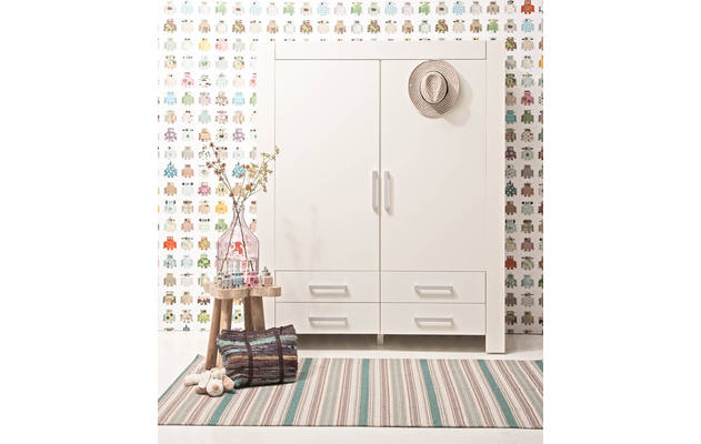 Kledingkast brooklyn wit mdf - 8122610-02