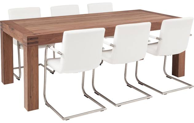 Eettafel clear noten noten - 8130353-02