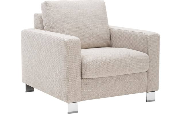 Fauteuil multiply bruin stof - 8140864-01