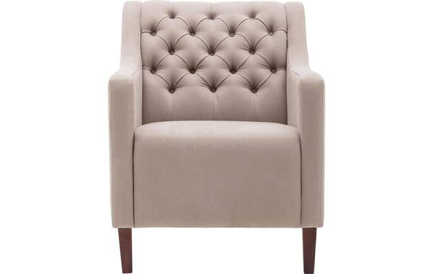 Fauteuil romeo wit stof - 8140916-02