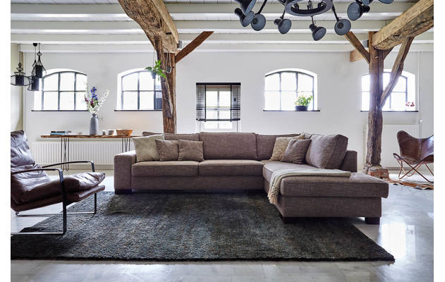 Fauteuil ashton bruin stof kopen goossens meubelwinkel for Goossens meubelen