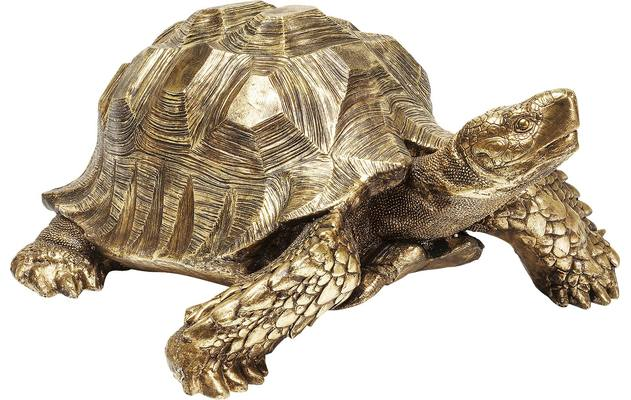 Goossens decoratie deco turtle gold polyresin - 8171999-01