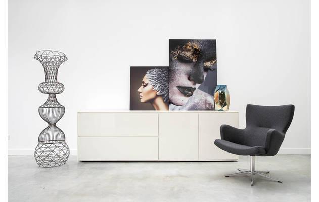 Hoeksalon remco blauw stof kopen goossens meubelwinkel for Goossens meubelen