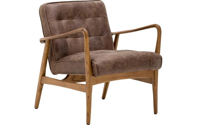 Fauteuil toulouse bruin leer - 8180096-03