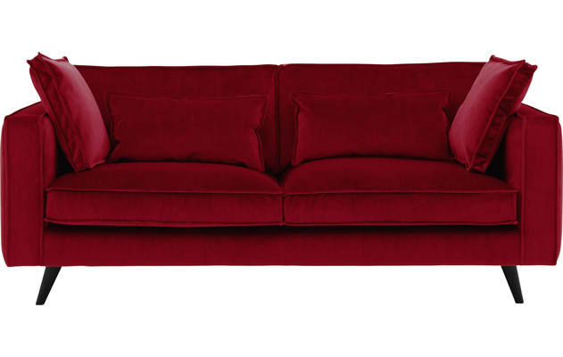 3 zits suite rood stof - 8190216-220-01