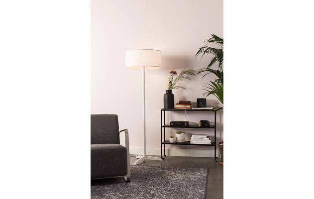 Zuiver vloerlamp shelby wit stof - 8192187-08