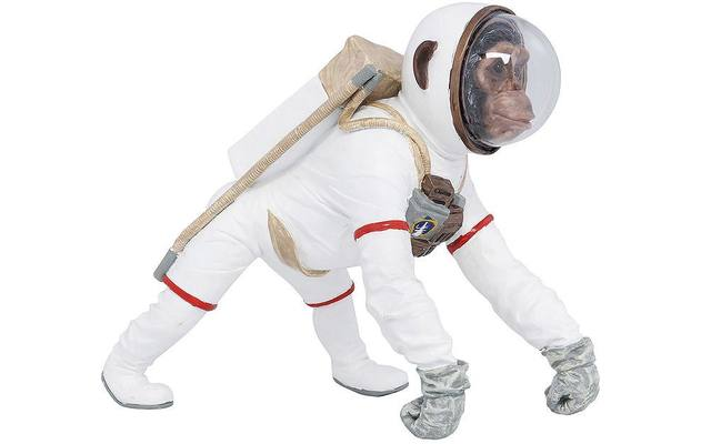Kare design decoratie figurine space wit polyresin - 8195481-02